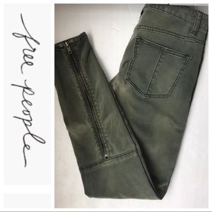 FREE PEOPLE Ankle zipper Pants Size 25
